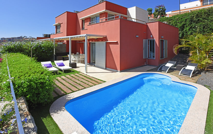 Nice two storey villa with heatable private pool and fantastic views towards the golf course