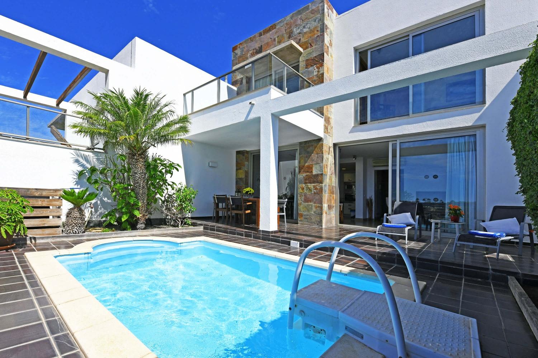 Luxuriöses Ferienhaus mit Privatpool auf dem Golfplatz Salobre im Süden von Gran Canaria, Villa Golfers 12.